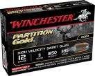 "Winchester Supreme Partition Gold 12 ga 3"" 385 Gr Sabot Slug Shot 5Box/20Case"